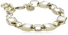 Dyrberg / Kern Women's Bracelet Gold-Plated Metal Swarovski Crystal 336330 -- More info could be found at the image url. #Bracelets