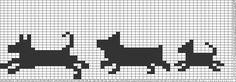 Tricksy Knitter Charts: My Three Doggies by Filet Crochet Charts, Knitting Charts, Crochet For Kids, Knit Crochet, Dog Chart, Graph Design, Fair Isle Pattern, Tapestry Crochet, Cross Stitching