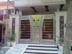 The Stunning Front Gate Design Compound Main Gate Designs is one of the pictures that are related to the picture before in the collection gallery. House Main Gates Design, House Outside Design, Door Gate Design, Main Door Design, House Design, House Front Gate, Front Gates, Entrance Gates, Entry Doors