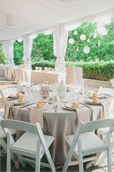 Neutral wedding reception ideas. Keeping it fresh and elegant. Photography by www.rhythm-photography.com