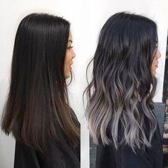 ash grey liliac color balayage (@kycolor) on Instagram