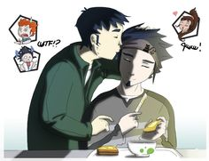 Morning kiss by raysen on DeviantArt Galactik Football, Morning Kisses, Fiction, Deviantart, Anime, Cartoon Movies, Anime Music, Animation, Anime Shows