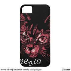meow -cherry cat iphon case