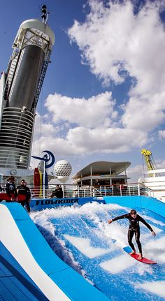 Get some board action in while on the high seas. The Freedom of the Seas FlowRider is perfect for surfer pros and novices alike.