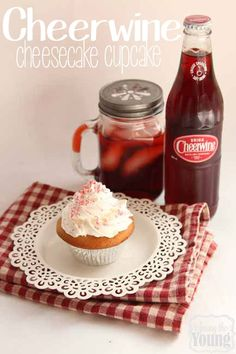 Among the Young: Blickenstaffs Cheerwine Cheesecake Cupcake