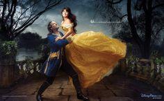 Disney Dream Portraits - Penelope Cruz as Belle and Jeff Bridges as Prince Adam
