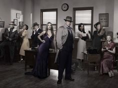 Castle (TV show) Jon Huertas, Tamala Jones, Seamus Dever, Stana Katic, Nathan Fillion, Penny Johnson Jerald, Susan Sullivan and Molly Quinn (from left)