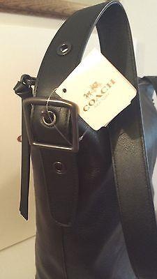 NEW COACH Bleecker Shoulder Duffle Bag Black F32282 NWT $358 Leather