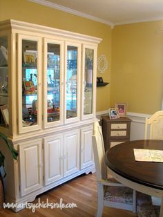 China Cabinet and Dining Table Re-New - Artsy Chicks Rule
