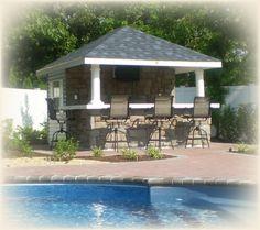 Pool House Bar Ideas coastal style queensland beach house style 10 X 12 Classic Hip With Bar Cabana Ideaspool
