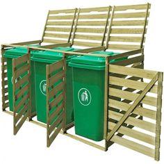 Outdoor Pinewood Single Double Triple Wheelie Bin Shed Storage Shed Dustbin Recycling Bin Storage, Storage Bins, Storage Basket, Triple Wheelie Bin Storage, Triple Bin Store, Bin Shed, Garbage Shed, Le Hangar, Garden Storage Shed
