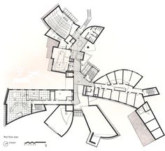 Gehry's EMR Communication and Technology Center. First floor plan