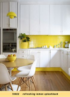61 Trendy kitchen colors with white cabinets yellow tile Kitchen Interior, Modern Interior Decor, Kitchen Inspirations, Yellow Kitchen, Kitchen Remodel, Kitchen Decor, New Kitchen, Home Kitchens, Kitchen Tiles