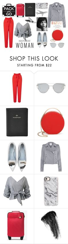"""Travel Diary: Oslo"" by vikisi ❤ liked on Polyvore featuring Miss Selfridge, Gentle Monster, FOSSIL, Eddie Borgo, Chiara Ferragni, Casetify, MICHAEL Michael Kors, Eyeko, Bobbi Brown Cosmetics and travel"