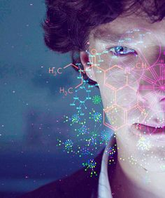 two of my favorite things in a picture...Chemistry and Sherlock! <3