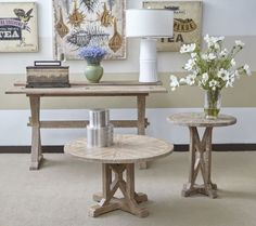 Pacific Heights Bisque Occasional Table Set
