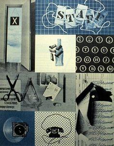 Alvin Lustig, Staff, intern publication for Look magazine, 1944 Graphic Design Illustration, Graphic Design Art, Graphic Prints, Photomontage, Creative Director, American, Cool Designs, Cover, Typography