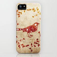 bird wreath iPhone Case by Polkip - $35.00