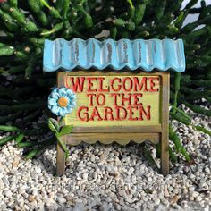 Welcome to the Garden Sign - $3.99