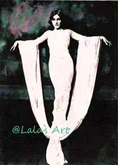 Vintage style Painting of ADRIENNE AMES Silent by LalasArtWorld