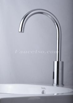 Cold Water Automatic Touchless Chrome Centerset Sensor Sink Faucet (F-0108) - Faucets Online Shop