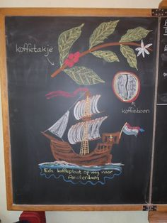 Bordtekening economische aardrijkskunde: Koffie // klas 5 Blackboard Drawing, Chalk Drawings, Fifth Grade, Blackboards, Chalk Art, 5th Grades, Woodstock, Art Quotes, Poster