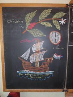 Bordtekening economische aardrijkskunde: Koffie // klas 5