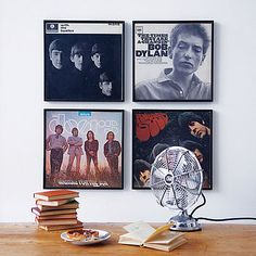 framed vinyl records-I need to try something like this, Ry and I have a million records with some really great cover art!