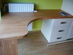 Jeugdkamer - Bureau met ladeblok - Bureaublad in rubberwood