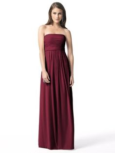 Bridesmaid dress - Dessy 2845, lux chiffon in burgandy or claret