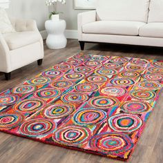 BOHO BEACH LIVING Rainbow Ripples Rug. I love it !