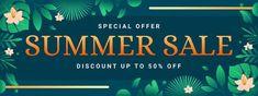 Special offer summer sale banner templat... | Premium Vector #Freepik #vector #banner #frame #sale #abstract Summer Banner, Banner Template, Summer Sale, Banner Design, Green Leaves, Templates, Frame, Picture Frame, Stencils