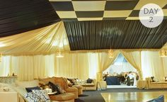 Inspiration of the Day: A Checkerboard TentedCeiling