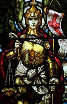 Stained glass St.Michael the Archangel
