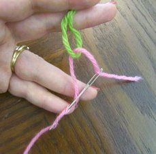 Technique:  Russian join method - Easy!  No weaving in ends, no knots, especially good for fine-weight yarn, & conserve yarn with very little waste.  . . . .   ღTrish W ~ http://www.pinterest.com/trishw/  . . . .   #crochet #technique #join