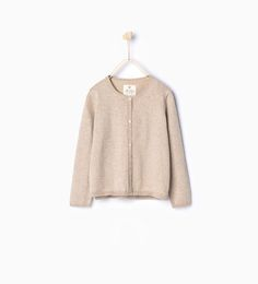 ZARA - KIDS - Garter stitch cardigan