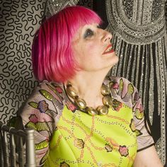 """Zandra Rhodes one of the world's most famous fashion designers show """"Zandra Unseen opens today"""" at the fashion textile museum"""