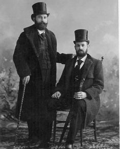 Male Bearded Victorians Two Dapper Men Beards Victorian Top Hats Beard Same Sex Couple Gay Vintage Cabinet Card Photography Photo by EclecticForest on Etsy https://www.etsy.com/listing/196001964/male-bearded-victorians-two-dapper-men