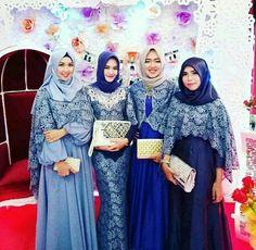 Kebaya Muslim, Muslim Dress, Islamic Fashion, Muslim Fashion, Abaya Fashion, Fashion Dresses, Baju Kurung Lace, I Dress, Party Dress