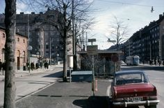 Södertörnsbussarnas terminal på Ringvägen 1966