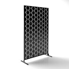 The geometric Veradek Quadra Decorative Screen is precision laser-cut from thick-gauge galvanized steel. This decorative outdoor privacy screen attaches. Outdoor Rooms, Outdoor Living, Outdoor Decor, Bars Tiki, Metal Fence Panels, Metal Screen, Screen Size, Privacy Screen Outdoor, Privacy Screens
