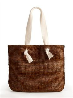 Cannes Tote with Web Handles
