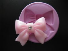Bow Fondant Clay Mold Kawaii Silicone Mold Flexible Moulds PICTURE w/RULER for SIZE