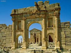 carthage tunisia ruins of a Roman bath house