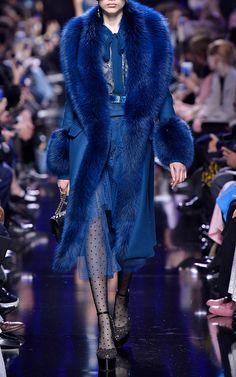 Fox Fur Collar Wool Coat by Elie Saab