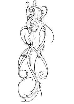 Mermaid Tattoo Photo: This Photo was uploaded by manko-chan. Find other Mermaid … Meerjungfrau Tattoo Foto: Dieses Foto wurde von manko-chan hochgeladen. Mermaid Tattoo Designs, Mermaid Drawings, Design Tattoo, Mermaid Tattoos, Mermaid Sketch, Mermaid Mermaid, Mermaid Tails, Wolf Tattoos, Leg Tattoos