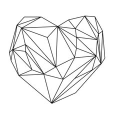 Heart Graphic (black on white) Art Print - would work just fine as a tattoo as well
