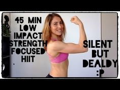 Killer Low Impact SILENT HIIT | 45 min - YouTube