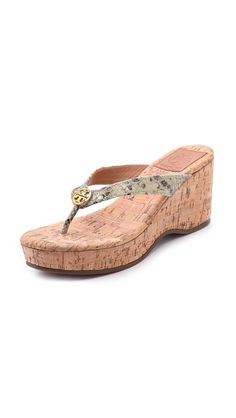 Tory Burch Suzy Cork Wedges. Love! Could wear with anything