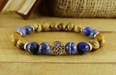 1f8371692a This bracelet made with only natural picture jasper and sodalite stones   fashion  mensfashion